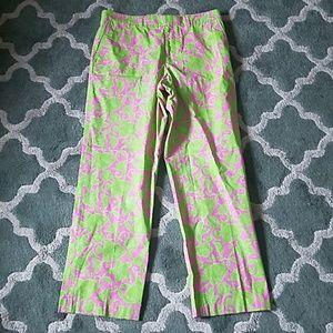 LILLY PULITZER Mens Fish Print Pants Size 34